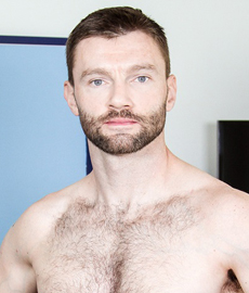 This hairy hunk doesn't need any prodding to get naked ... and that's a good thing!