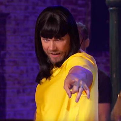 """Joel McHale goes in drag as Bjork on """"Lip Sync Battle."""""""