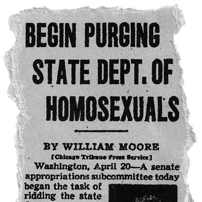 Gay rights group sues for release of records tied to Eisenhower anti-gay order.