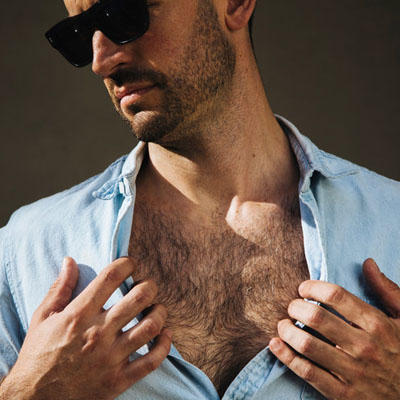 Is chest hair finally back in?