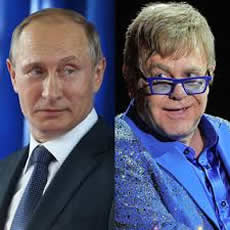 Putin cancels planned Moscow meet-up with Sir Elton John.
