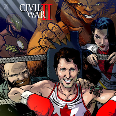Canadian PM Justin Trudeau looks damn heroic in upcoming Marvel cover.