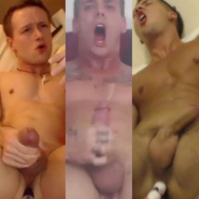 3 male webcam models react to OhMiBod vibrator.