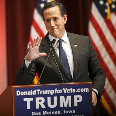 Trump taps Rick Santorum as advisor, because everything is terrible.