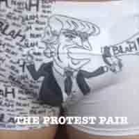"""Protest Pair"" undies let you pee out of Trump's mouth."