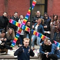 Cross placed in gay area of NY gets fabulous makeover.