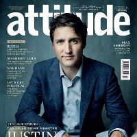 Justin Trudeau first Canadian PM to appear on cover of an international gay mag.