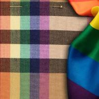Burberry celebrates LGBTQ rainbow flag in latest fashion collection.