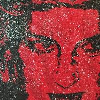 Artist creates stunning portrait of Princess Di using HIV+ blood and diamond dust.