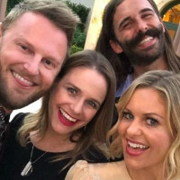 """Fans criticize Queer Eye guys for posing with """"violently anti-LGBT"""" actress."""