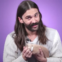 Jonathan Van Ness plays with kittens while answering fan questions.