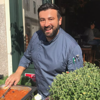 "Hunky Italian chef and ""Chopped"" winner cooks for equality."