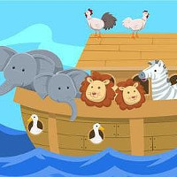 Author points out every depiction of Noah's Ark shows two male lions.