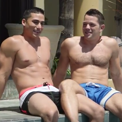 A quickie with boyfriends Topher DiMaggio and Matt O'Reilly