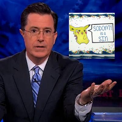 Stephen Colbert takes on an anti-gay baker