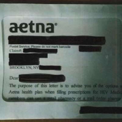 Class action suit filed against Aetna for exposing HIV status
