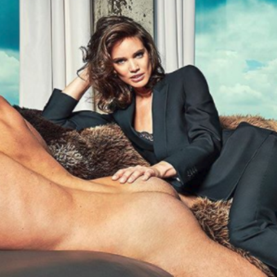 Clothed women with naked men in ads? Yes please!