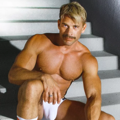 "Terry Miller poses for ""Tom of Finland"" photoshoot"