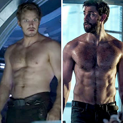Geek to hunk: Chris Pratt versus John Krasinski