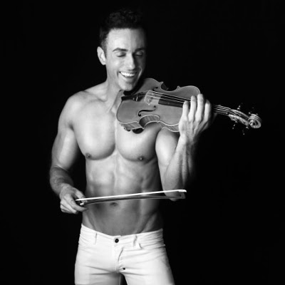 "Shirtless Violinist ready to ""Go The Distance"""