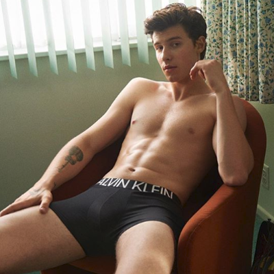 Shawn Mendes shows off his new Calvins