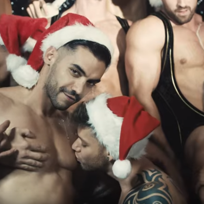 A sexy Merry Christmas from Andrew Christian