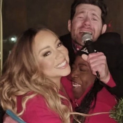 Mariah Carey and Billy Eichner get festive in New York