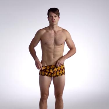 100 years of men's swimwear in 3 minutes