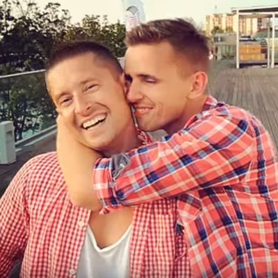 Gay couple back hoping for second viral video