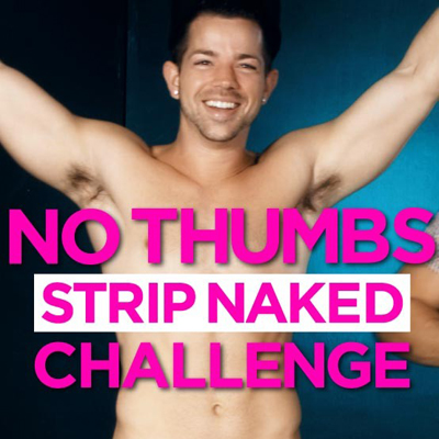 No thumbs strip challenge